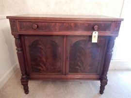 Antique 2-Door Cabinet with Interior Drawer