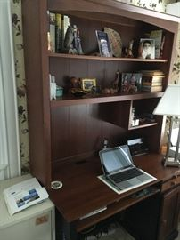 book shelf desk combo
