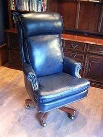 Leather desk chair.