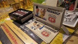 Vintage Phillips 66 Miniature Billboard with 6 Cards