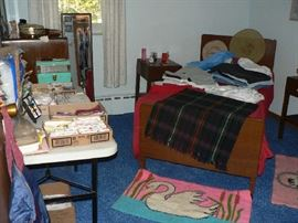 single bed, dresser and 2 side tables,