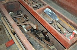 Antique Tool Box Contents