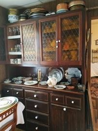 Antique kitchen cabinet with flour drawers