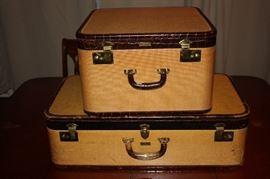vintage 1930's-40's suitecases