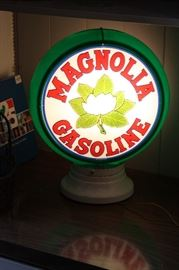 Magnolia Gasoline Gas Pump Globe