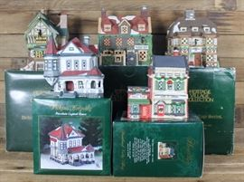 FIVE BEAUTIFUL LIGHTED DEPT. 56 BUILDINGS