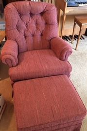 Chair and ottoman in excellent condition