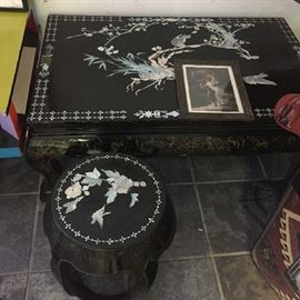 Chinese low table and stools