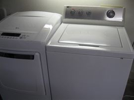 LG Dryer and Amana Washer