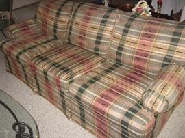 Flex Steel Hide-A-Bed Sofa with Matching Love Seat