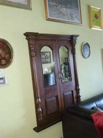 antigue mirror/ doors, pictures, paintings