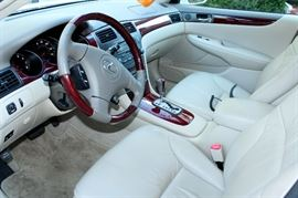 2004 Lexus ES 330 with 13,647 miles! White with tan leather interior and sunroof - 1 owner