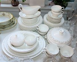 "Wedgwood ""Queensware"" china - service for 8"
