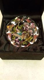 "Amia Studios handpainted hummingbird ""diamond"" in the box makes a great gift"