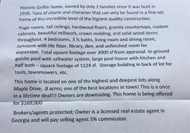 house description