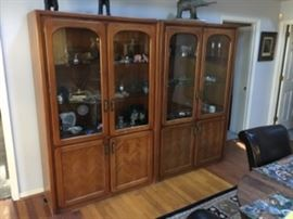 2 Mid-Century Display Cabinets