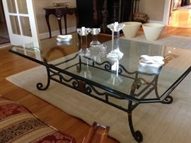 Glass & Metal Coffee Table