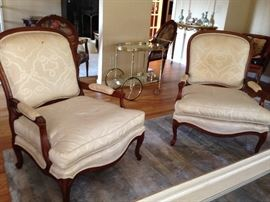 Drexel Over Sized French Provincial Chairs  (2 of 3)