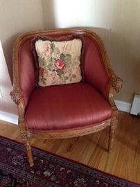 Pair of Rams Head Chairs (1 of 2)