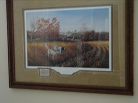 Signed by John Eberhardt - Bird Dog Country  - Ducks Unlimited