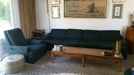 Mid Century 8ft LONG & LOW sofa $165!