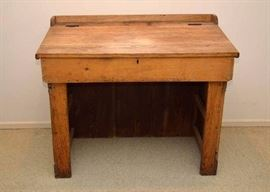 Antique / Primitive Wood Lift-Top Desk