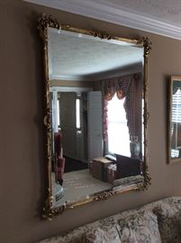 Gorgeous Large Beveled Mirror - gilded with filagree. Freedman!!