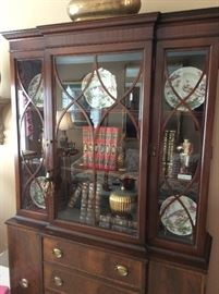 Gorgeous Sheraton Desk Secretary Hutch