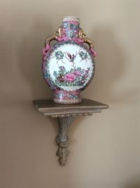 Pair of Sconces with Gorgeous Oriental Urns/Vases