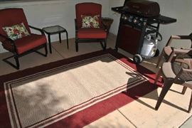 Patio Furniture and area rug