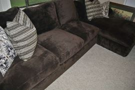 Down Sectional Sofa with accent pillows