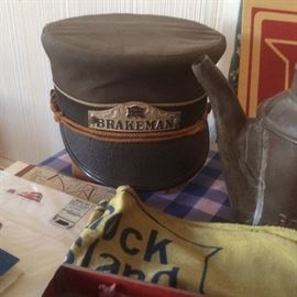 rock island rail road Brakeman hat