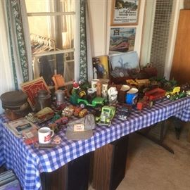 Rock island rail road items. Collectible toy tractors