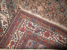 Persian rug, hand knotted, brought from Iran in the 1950's.