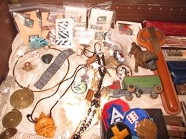 jewelry, vintage toys, military