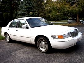 1998 Mercury Grand Marquis LS - 4.6 V8 - tan leather interior - 89,420 miles - one owner