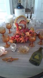 Table top of autumnal colors