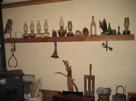 Antique Accessories 6 Kerosene Lanterns