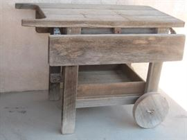 Patio Redwood DropLeaf Bench
