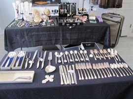 "Sterling Flatware, Carving Sets & Serving    International Silver Co - ""Pine Spray""       Gorham ""Rose Marie"" Towle ""Chippendale"""