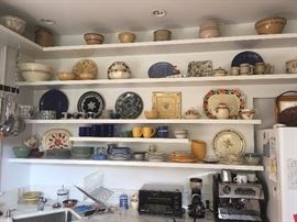 Lots of crockery and vintage plates.