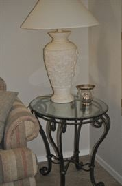 lamp and candle only for saturday purchase - table is sold