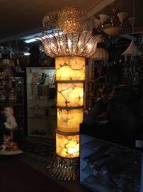 ITALIAN ALABASTER FLOOR LAMP (12 ft. tall)