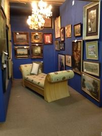 We carry beautiful artwork with an especially nice collection of oils.