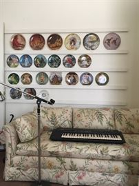 A few of the collectible Plates ~ Keyboard ~ Pro Mic Stand ~ Hide-a-Bed