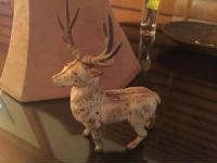 Antique metal deer bank