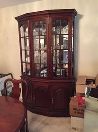 Tell City Chair Company china cabinet.  Tidewater Cherry.