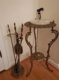 Marble top Brass Pedestal