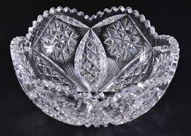Lot 4:  Vintage Cut Glass Bowl