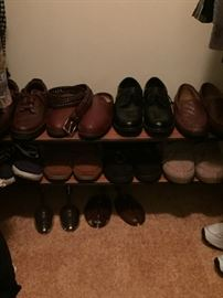 Nice selection of clean, hardly used mens shoes.  Uggs and Sas, too